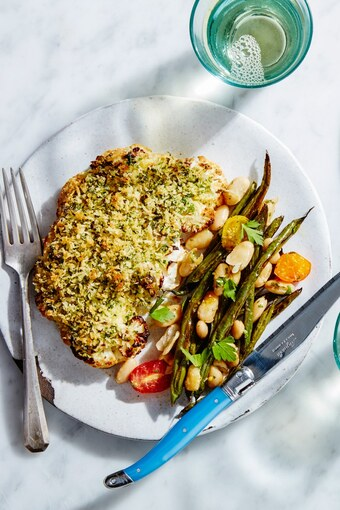 Herb Crusted Cauliflower Quot Steaks Quot